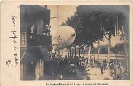 CARTE-PHOTO- LE SANTOS-DUMONT- N° 6 SUR LA ROUTE DE SURESNE - Zeppeline