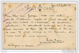 Cachet Hopital Complémentaire N°16 Lyon Lycée Jeunes Filles Edgar Quinet 1915 - WW I