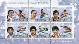 GUINEA BISSAU 2009 - High Diving I Beijing Olympics - YT 2734-9 - Zomer 2008: Peking