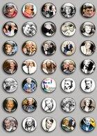 Johnny Hallyday Music Fan ART BADGE BUTTON PIN SET (1inch/25mm Diameter) 35 DIFF 5 - Music