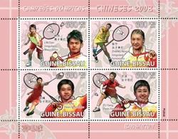 GUINEA BISSAU 2009 - Badminton Beijing Olympics - YT 2726-9 - Zomer 2008: Peking