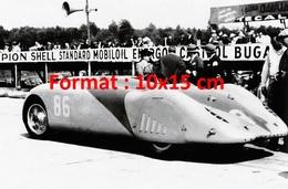 Reproduction D'une Photographie D'une Ancienne Bugatti De Course Numéro 86 - Reproductions
