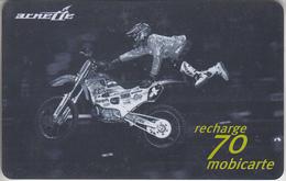 MOBICARTE - TÉLÉCARTE - GSM  *** RECHARGE  FT -  MOTO NOIR *** - Frankreich