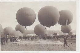Gordon-Bennett Wettfliegen, Zürich 1909 - Startvorbereitungen           (P-149-71130) - Montgolfières