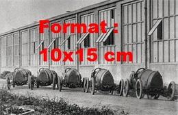 Reproduction D'une Photographie Ancienne De Très Anciennes Bugatti Alignées - Reproductions
