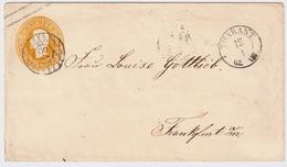 "Sachsen, 1862, Nr. Stp. "" 84 "" "" THARANT "", Klar  , #a389 - Sachsen"