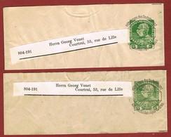 Alpenverein D O A V   Streifband Ausland  Typo 2 Ganzsachen Ohne Datum  5 Heller Jubiläum - Postwaardestukken