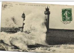 """Cachet Convoyeur Ligne """"BREAUTE-GARE A FECAMP 1912"""" Semeuse Pour Toulouse - Poststempel (Briefe)"""