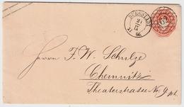 """Sachsen, 1866, Nr. Stp. """" 62 """" Burgstädt, Luxus!, #a391 - Sachsen"""
