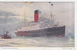 Cunard RMS Ascania - Mitteilung Des Reisebureau Hans Meiss, Zürich - 1931            (P-149-71130) - Paquebots