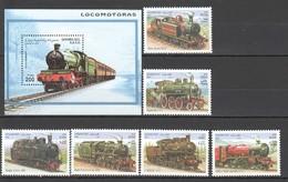 F575 1997,2001 SAHARA AFGHAN TRANSPORT TRAINS 1SET+1BL MNH - Trains