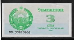 Ouzbékistan - 3 Sum - Pick N°62 - NEUF - Uzbekistan