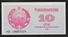 Ouzbékistan - 10 Sum - Pick N°64 - NEUF - Ouzbékistan