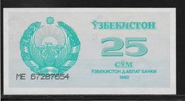 Ouzbékistan - 25 Sum - Pick N°65 - NEUF - Uzbekistan