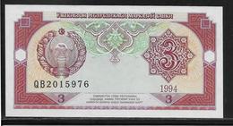 Ouzbékistan - 3 Sum - Pick N°74 - NEUF - Uzbekistan