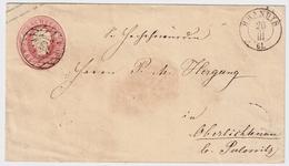 """Sachsen, 1861, Nr. Stp. """" 138 """" - """" BRANDIS """"  , #a395 - Sachsen"""