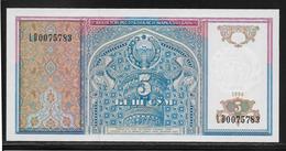 Ouzbékistan - 5 Sum - Pick N°75 - NEUF - Uzbekistan
