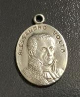 Antica Medaglia ALESSADRO VOLTA In ARGENTO ? - Tokens & Medals