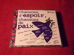 SELECTION DU READER'S DIGEST  °° + 100 TITRES  CHANSONS D'ESPOIR CHANSONS DE PAIX   5 CD - Music & Instruments