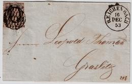"""Sachsen, 1853, 1 Gr. Bf. """" REICHENBACH """", #a398 - Sachsen"""