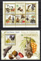 Komoren 2009**,  Fledermäuse Und Früchte, Kaktus / Komoren 2009, MNH, Bat And Fruits , Cactus - Sukkulenten