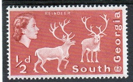 South Georgia 1963 Definitive ½d Stamp In Unmounted Mint Condition. - South Georgia