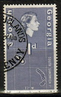 South Georgia 1963 Definitive 1d Stamp In Fine Used Condition. - South Georgia