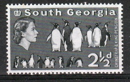 South Georgia 1963 Definitive 2½d Stamp In Mounted Mint Condition. - South Georgia