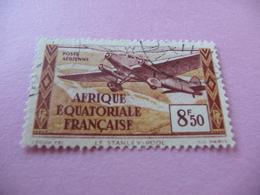 TIMBRE  AEF    POSTE  AÉRIENNE   N  7       COTE  2,00  EUROS    OBLITÉRÉ - A.E.F. (1936-1958)