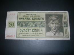 Boemia E Moravia 20 Korun 1944 - Tchécoslovaquie