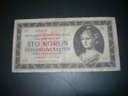Cecoslovacchia 100 Korun 1945 - Tchécoslovaquie