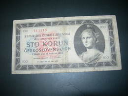 Cecoslovacchia 100 Korun 1945 - Tsjechoslowakije