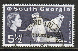 South Georgia 1963 Definitive 5½d Stamp In Fine Used Condition. - South Georgia