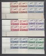 FRANCE 1936 AIR MAIL Nº 8/13 BLOCKS - Poste Aérienne