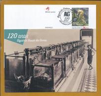 Seahorse. Seepferdchen. Hippocampe. Postcard Stationery 120 Years Of Vasco Da Gama Aquarium, Lisbon. Founder D. Carlos. - Fishes
