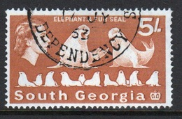 South Georgia 1963 Definitive 5s Stamp In Fine Used Condition. - South Georgia