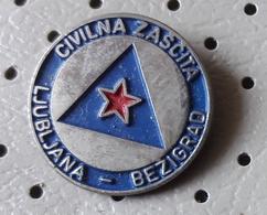 Civil Defense Ljubljana Bezigrad Red Star Communism SLOVENIA Ex Yugoslavia Pin - Associations
