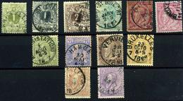 3128- Bélgica Nº 42/50 - 1865-1866 Linksprofil