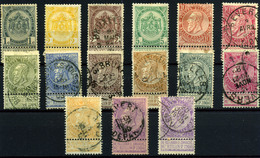 3127- Bélgica Nº 53/57 - 1865-1866 Linksprofil
