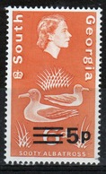 South Georgia 1971 Decimal Currency Definitive 5p Stamp In Unmounted Mint Condition. - South Georgia