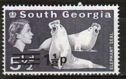 South Georgia 1971 Decimal Currency Definitive 1½p Stamp In Unmounted Mint Condition. - South Georgia
