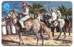 QA-QTL-AUT-0082 - Arabs On Horse Back - Qatar