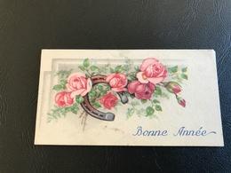 BONNE ANNEE Roses Et Fer à Cheval - Neujahr