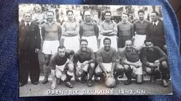 Cpa Carte Photo Coupe De France  Grenoble 1943 Foot Football - Football
