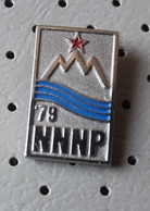 Civil Defense NNNP Action Nothing Can Surprise Us Red Star Communism SLOVENIA Ex Yugoslavia Pin - Associations