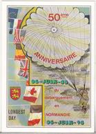 France Uncirculated D Day Commemorative Postcard -  50th Anniversary - Geschichte