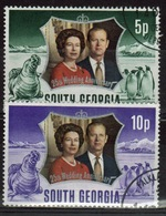 South Georgia 1972 Set Of Stamps To Celebrate The Royal Silver Wedding In Fine Used Condition. - South Georgia
