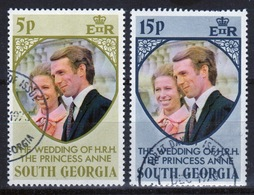 South Georgia 1973 Set Of Stamps To Celebrate The Royal  Wedding In Fine Used Condition. - South Georgia