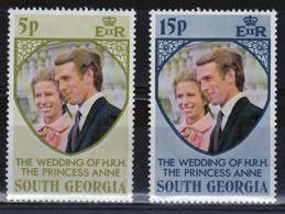 South Georgia 1973 Set Of Stamps To Celebrate The Royal  Wedding In Unmounted Mint Condition. - South Georgia
