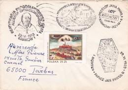 BUSTA VIAGGIATA  - POLONIA  -  DESTINAZIONE  FRANCIA - 1983 - 1944-.... Repubblica